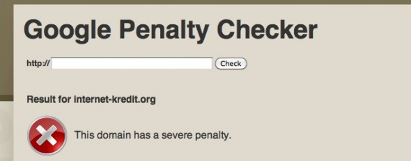 Google Penalty Checker