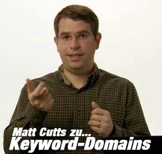 Keyword-Domains: Matt Cutts äußert sich